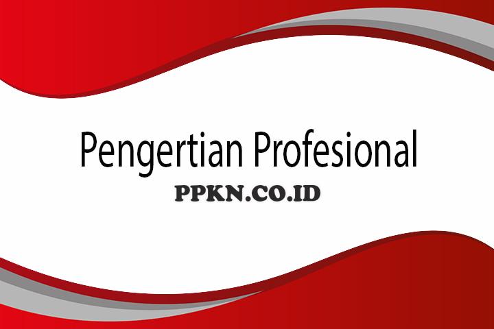 Pengertian Profesional