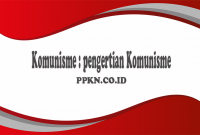 Komunisme : pengertian Komunisme