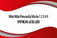 Nilai NQilai Pancasila Sila ke 1 2 3 4 5