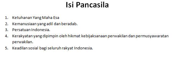 isi pancasila