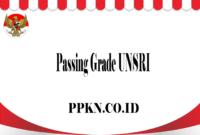 Passing Grade UNSRI