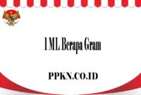 1 ML Berapa Gram