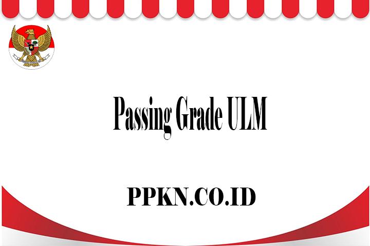 Passing Grade ULM