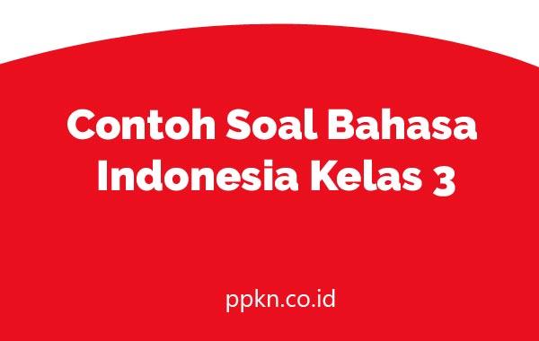 Contoh Soal Bahasa Indonesia Kelas 3